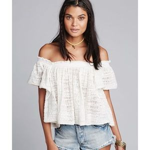 Free People | Ivory Thrills & Frills Sweater | M